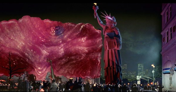 lady liberty vs The Blob