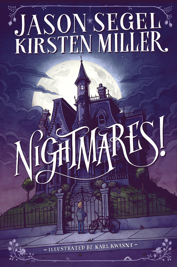 Illustrated Book Cover Review : Nightmares by jason segel and kirsten miller book