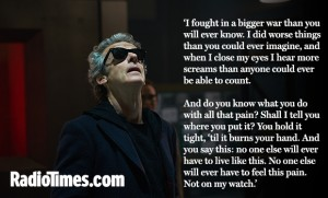 WARNING: Embargoed for publication until 00:00:01 on 03/11/2015 - Programme Name: Doctor Who - TX: 07/11/2015 - Episode: INVERSION OF THE ZYGONS (By Peter Harness and Steven Moffat) (No. 8) - Picture Shows: ***EMBARGOED UNTIL 3rd NOV 2015*** Osgood (INGRID OLIVER), Doctor Who (PETER CAPALDI) - (C) BBC - Photographer: Simon Ridgway