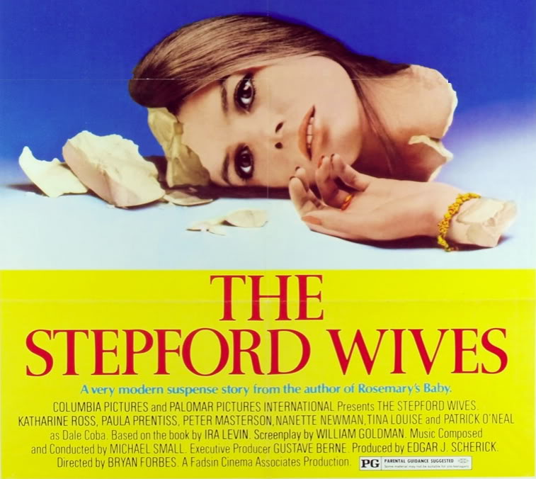 the stepford wives In the meantime, there are the stepford wives if television affects the way we think, dress and behave -- and, heaven help us, i'm afraid it does -- then someday we may all be a nation of those perfect plastic robots on tv.